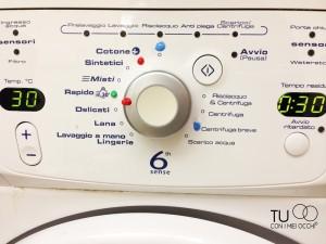 lavatrice con marcatura